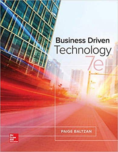BUSINESS DRIVEN TECHNOLOGY (7th Edition) - eBook